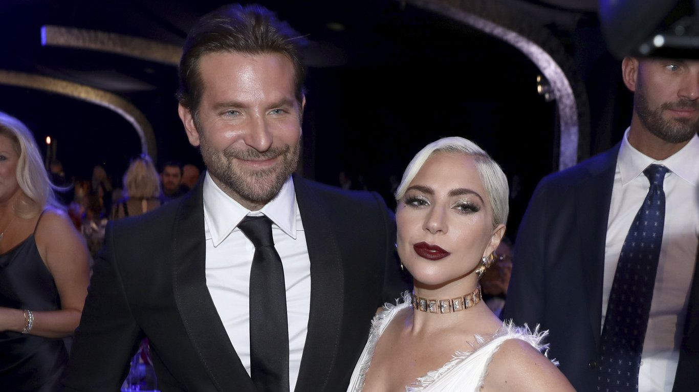 Bradley Cooper, left, and Lady Gaga missed out at today's Screen Actors Guild Awards in Los Angeles.
