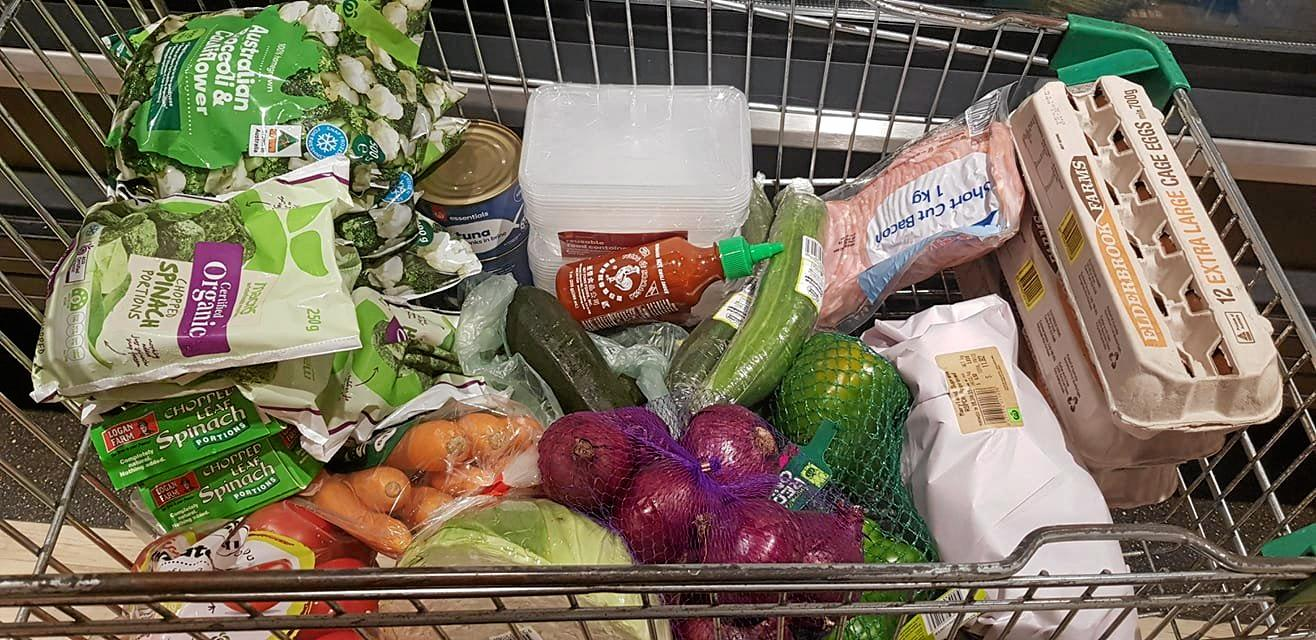 CLEAN EATING: Warren said his grocery shopping has changed drastically over the last year.