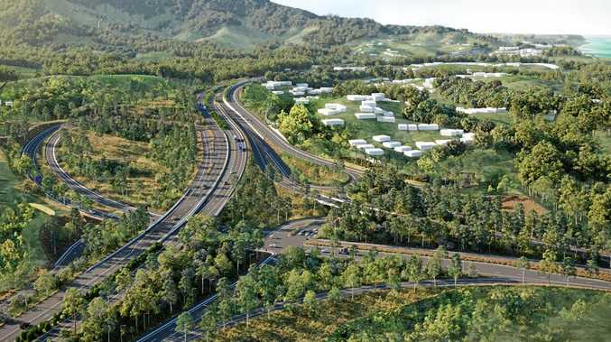 An artist's impression of the Coffs Harbour Bypass.