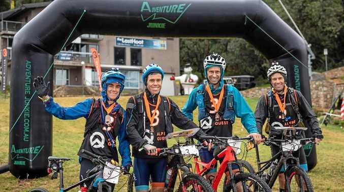 The victorious Alpine Avengers team of Elizabeth Dornom, Jarad Kohlarand, Angus Roswell and the Coast's own David Schloss.