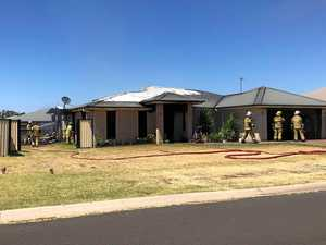 Family without a home after blaze tears through property
