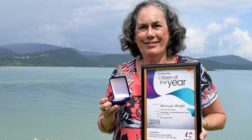 Whitsunday Regional Council southern region Australia Day Awards Citizen of the Year Merewyn Wright.