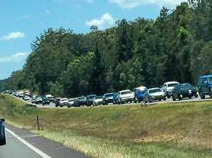 Bruce Hwy congestion eases, delays still expected