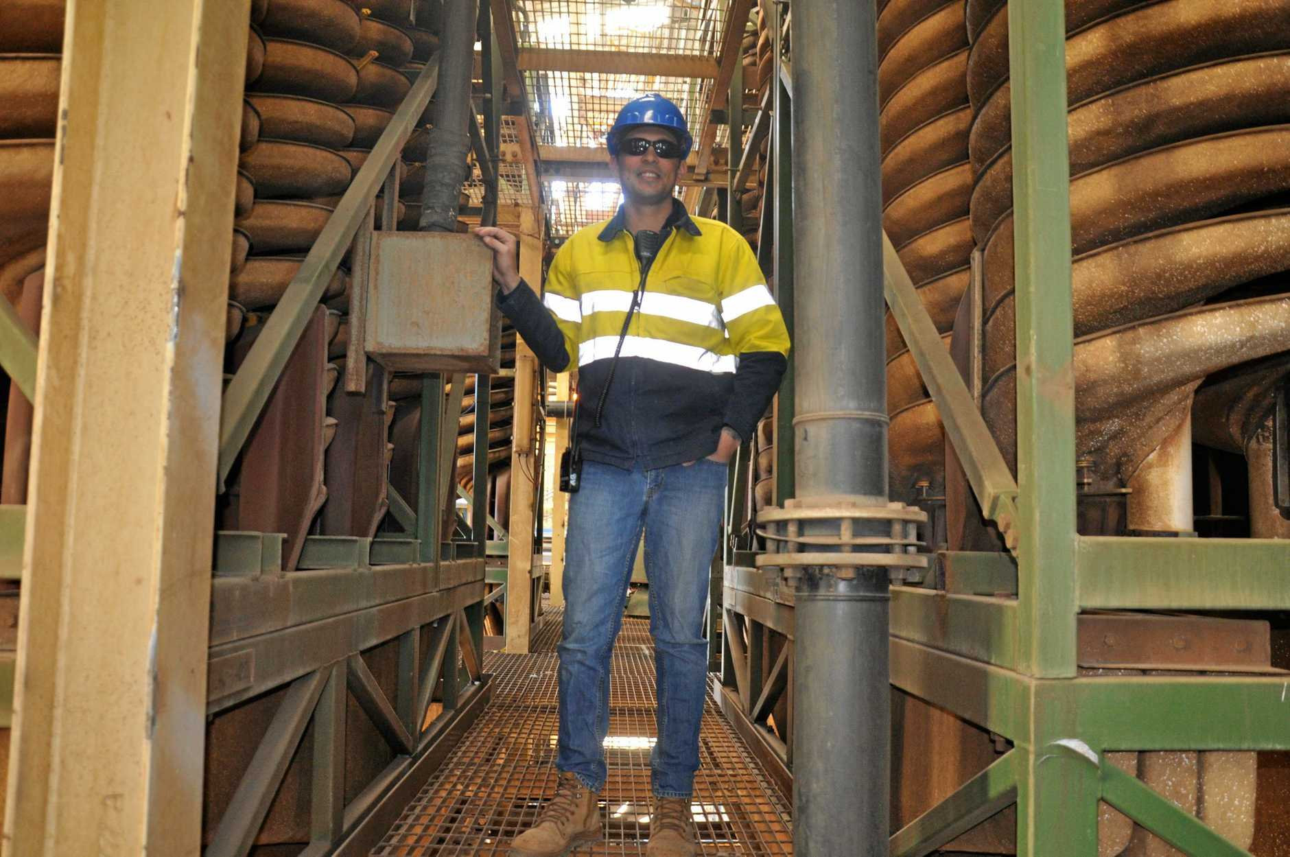 Melior Resources operate the Goondicum ilmenite mine outside Monto. Pictured is project manager Alastair Bauer.