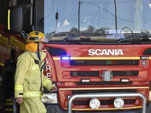 Fireys rush to hinterland shed blaze
