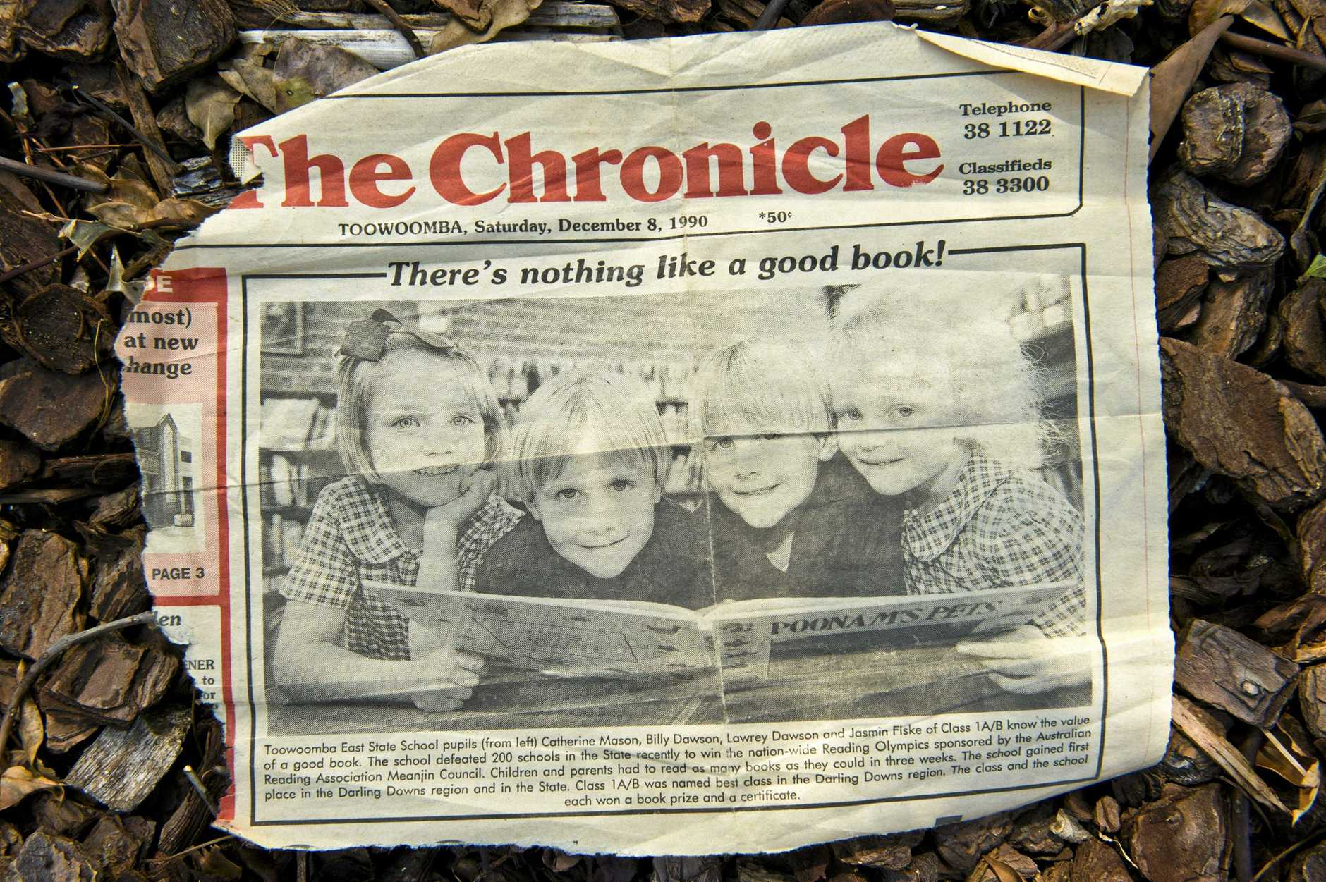 A copy of The Chronicle Ms Humphrey appeared in from 1990. She is pictured on the left.
