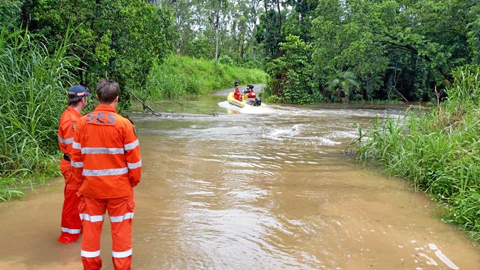 Whitsunday SES local controller Mark Connors said Cedar Creek is 'fast flowing' in wet weather conditions.