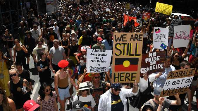 Large crowds attended the 2019 Invasion Day protests in Melbourne. Picture: James Ross