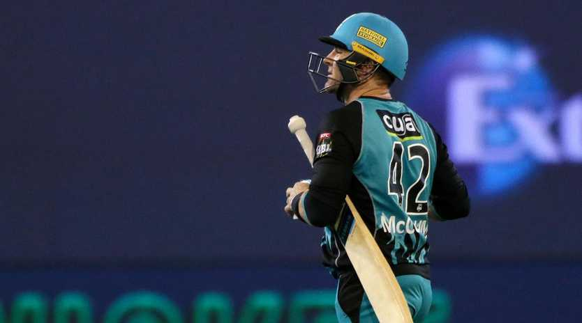 Brendon McCullum copped heat for his part in Brisbane's collapse. (AAP Image/George Salpigtidis)