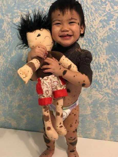 The clever and compassionate doll maker is doing her part to change children's' lives by ensuring everyone is represented inclusively. Source: Facebook/A Doll Like Me.