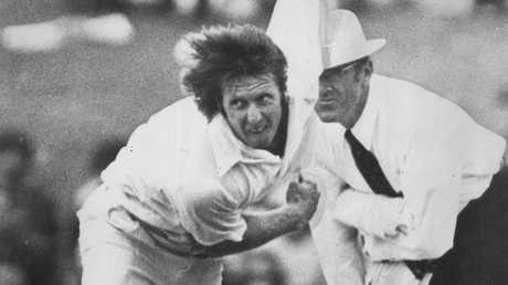 Jeff Thomson in action in the late 70s.