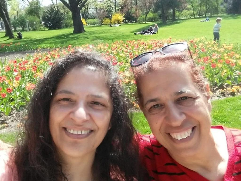 University of New England  professor Lily Pereg, with her sister, moved to Australia from Israel in the 1990s. Picture: AAP