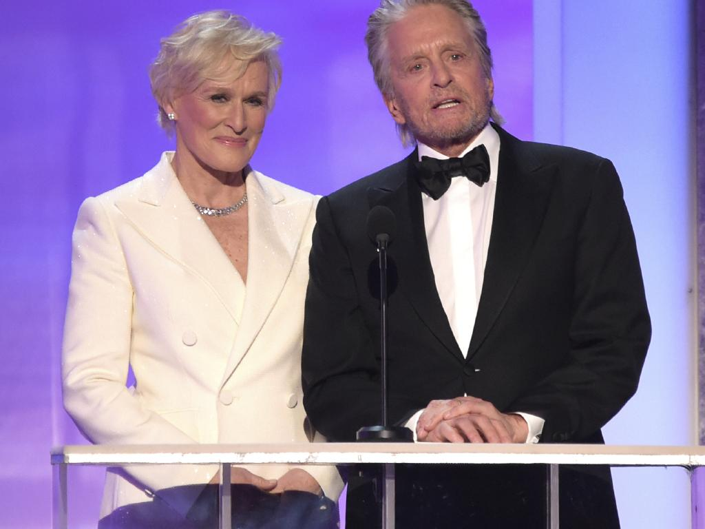 Glenn Close, left, and Michael Douglas. Picture: AP