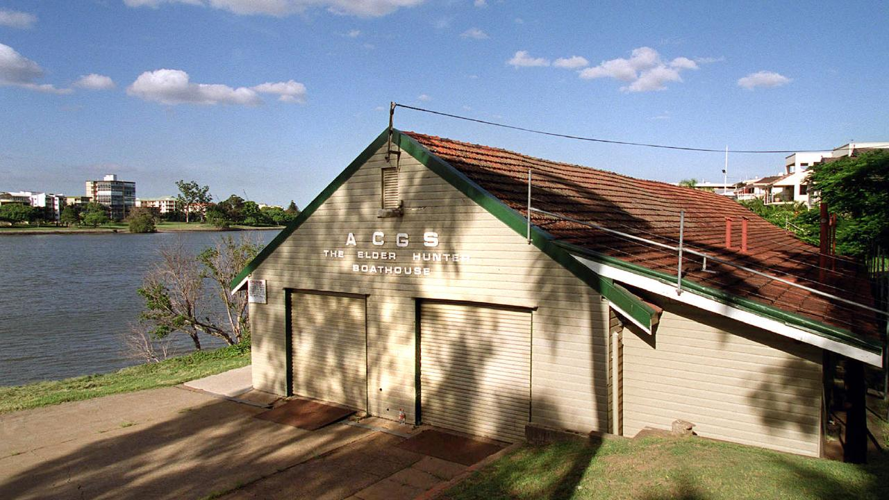 The old Churchie historic boathouse at Mowbray Park.