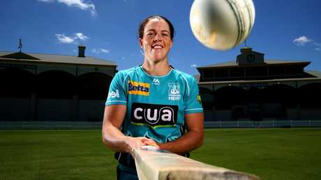 Grace Harris is a ton-scoring machine and has one of the bigger personalities in the WBBL. Picture: Adam Head