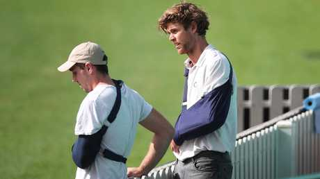 Dane Rampe broke his arm during a training run. Picture: Phil Hillyard