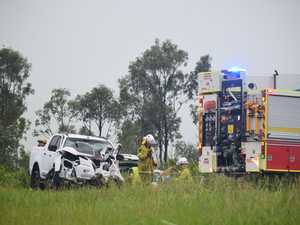 Three rushed to hospital after head-on Bruce Highway crash