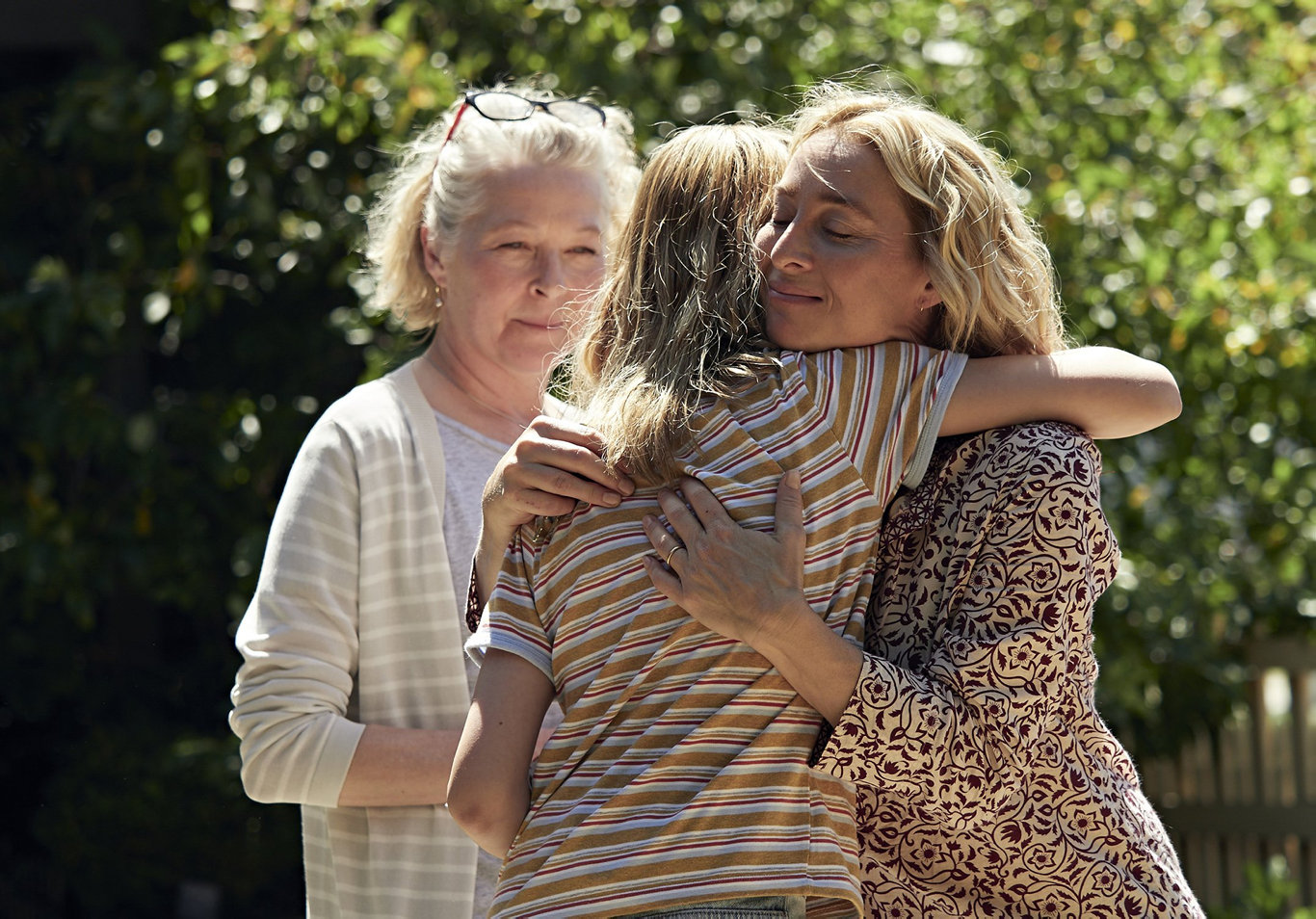 Stella Gonet and Asher Keddie in a scene from the mini-series The Cry.