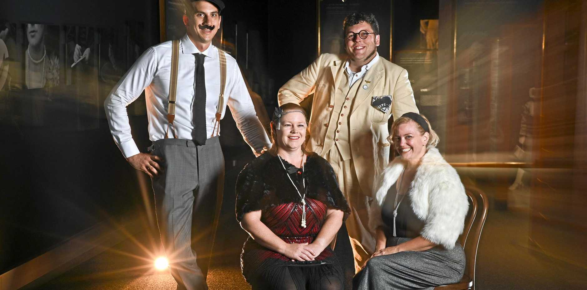 The Workshops Rail Museum will be hosting their Prohibition Party on Saturday, February 9. Ben Boyd, Kylie O'Toole, David Hampton and Tahlei O'Dea.