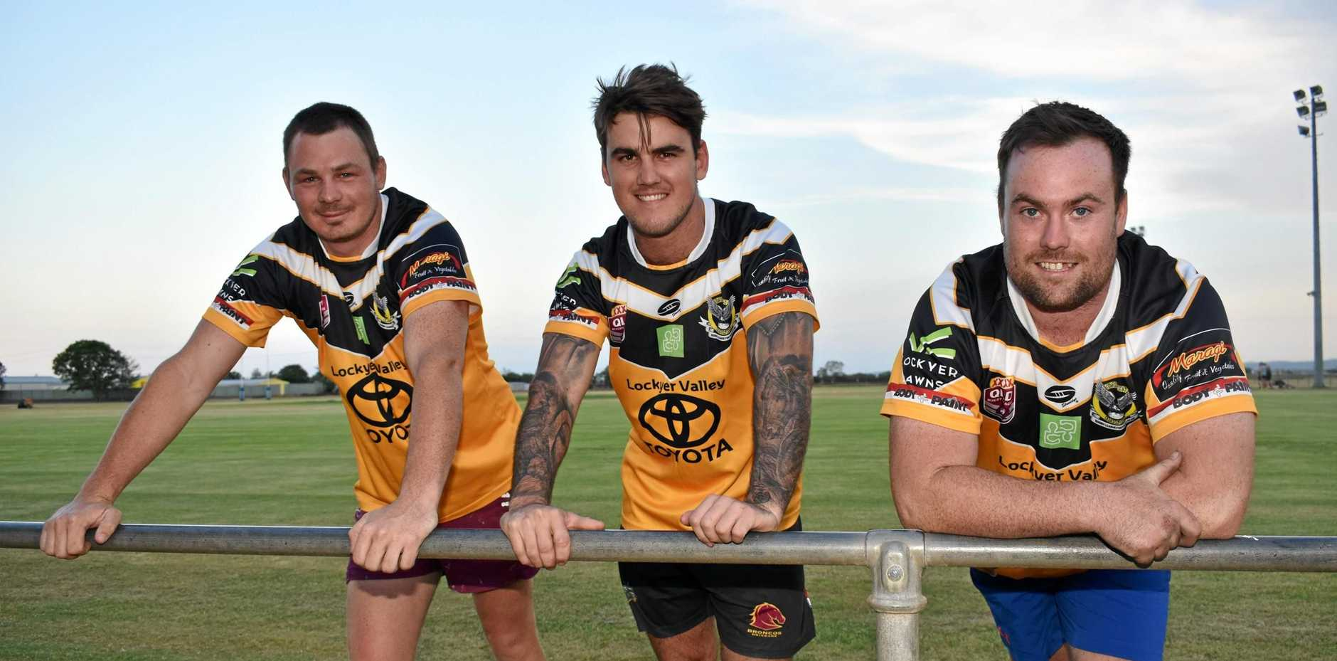 NEW PLAYERS: Rhys Teelow, Zack Stanfield and Tyrell McCullagh join the Hawks for the 2019 season.