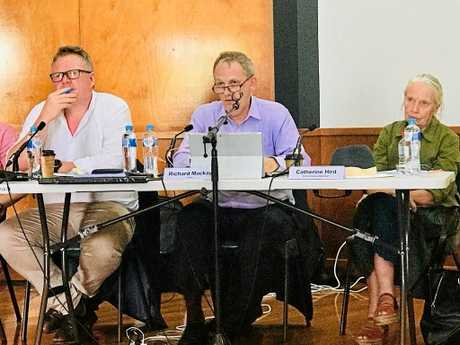 COMMUNITY: The IPC panel that will decide if North Byron Parklands is allowed to host music festivals met with the community in Ocean Shores today.