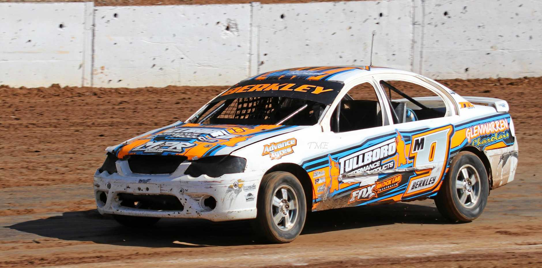RACING TO VICTORY: Joel Berkley has claimed first place in the National Production Sedan Title at the Western Speedway in Hamilton.