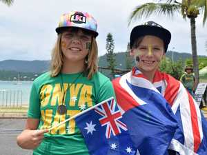 Showing off their true Australian colours