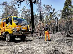 Firies return to the scene of Karara bushfire two months on