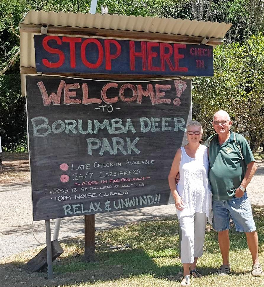 Col and Rosa Huddy of Borumba Deer Park.