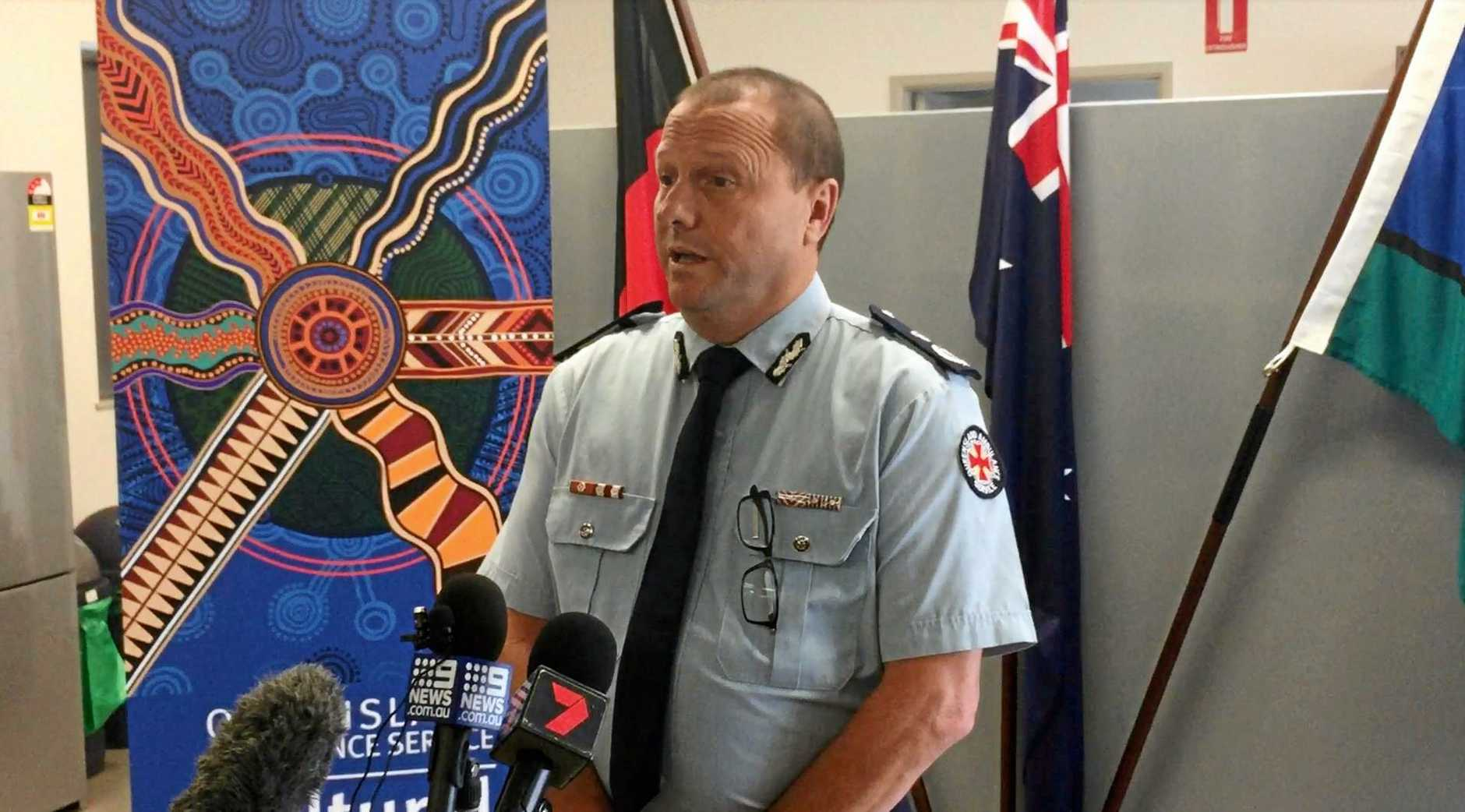 Queensland Ambulance Service commissioner Russell Bowles speaking after the death of paramedic Craig McCulloch in a traffic crash on Monday.