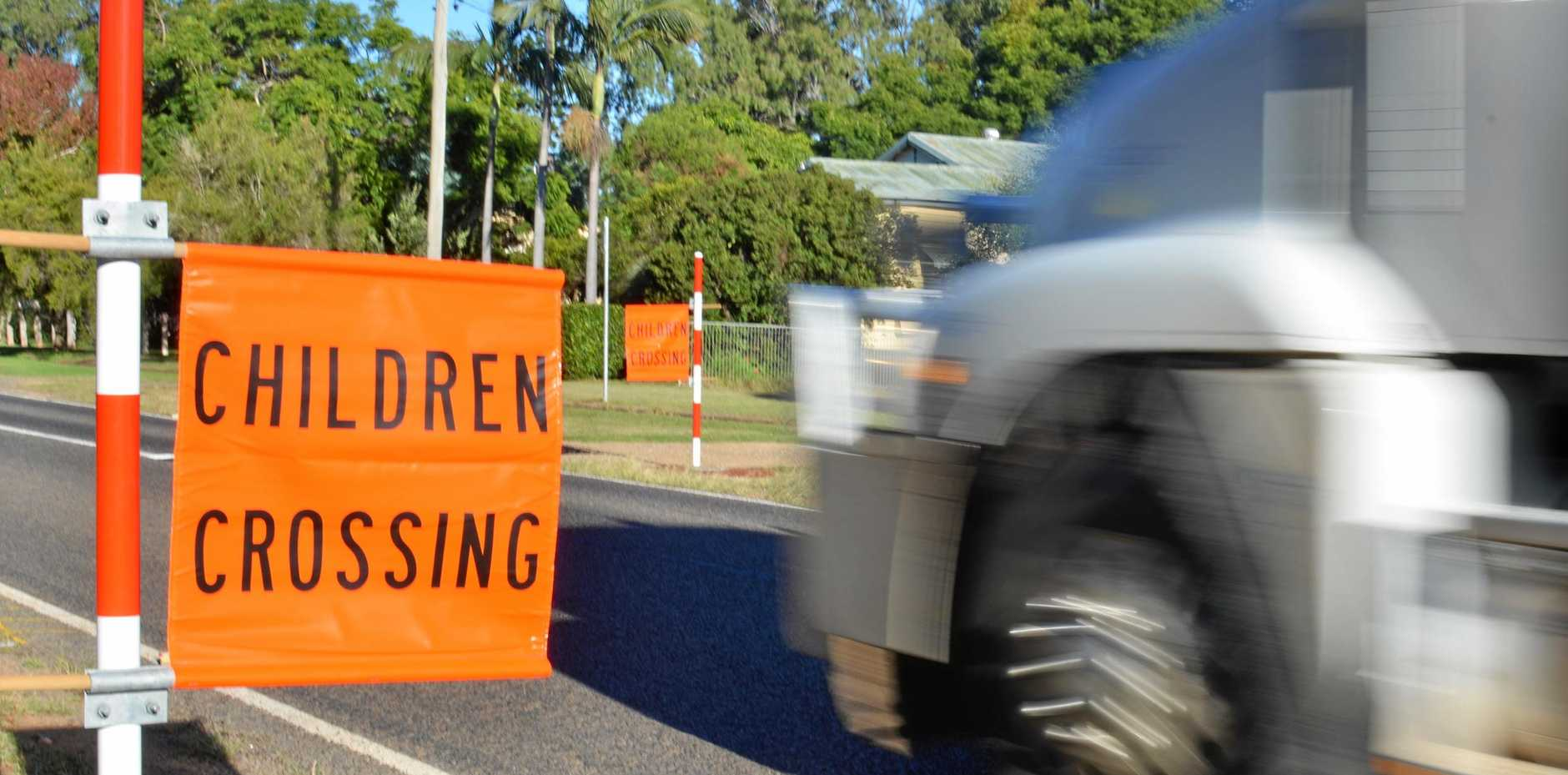 SLOW DOWN: Motorists are reminded to slow down when they approach a school, like when their approach this crossing at Kumbia State School.