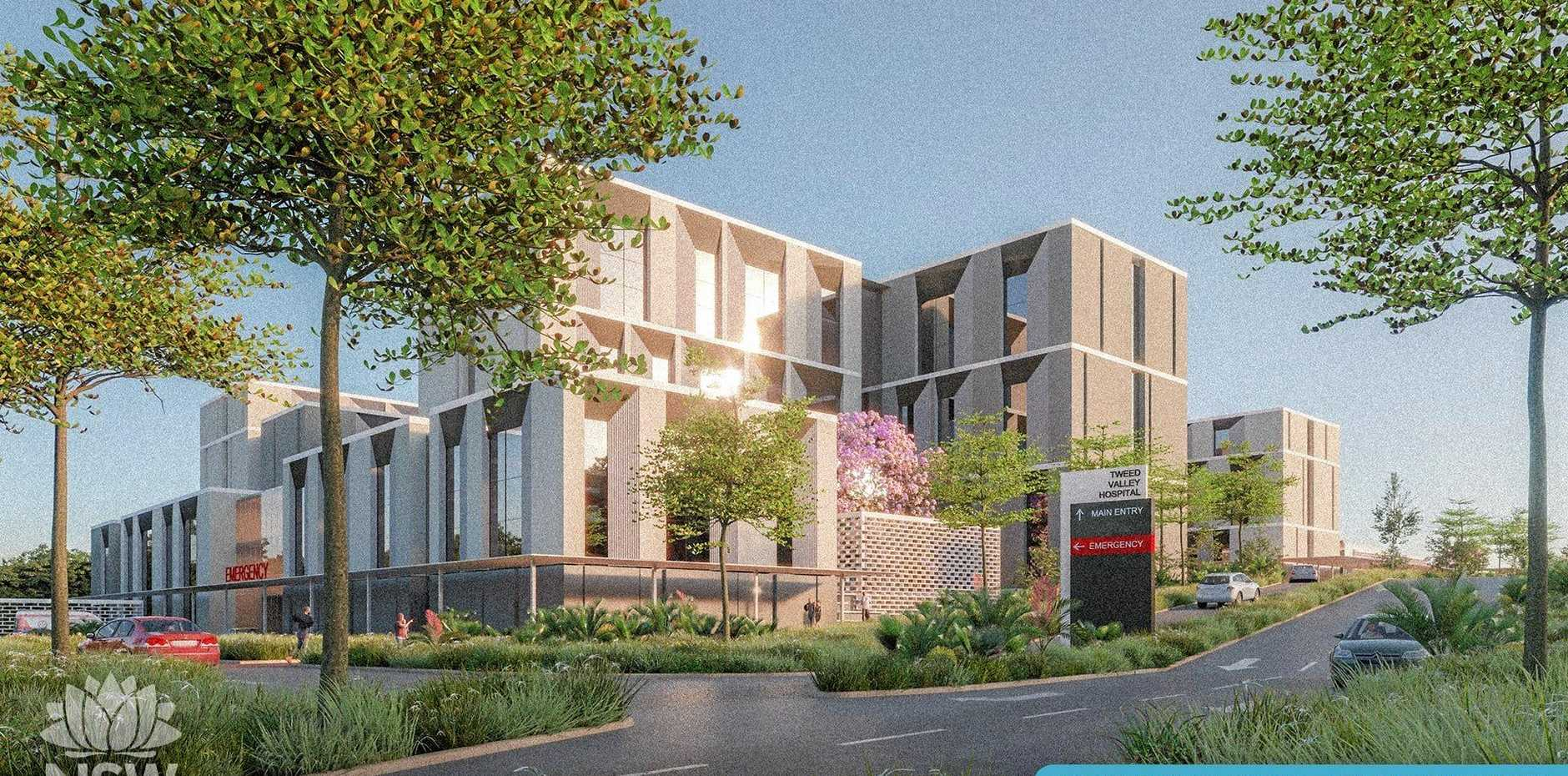 IN HARMONY: The emergency entry design of the new $534 million Tweed Valley Hospital.
