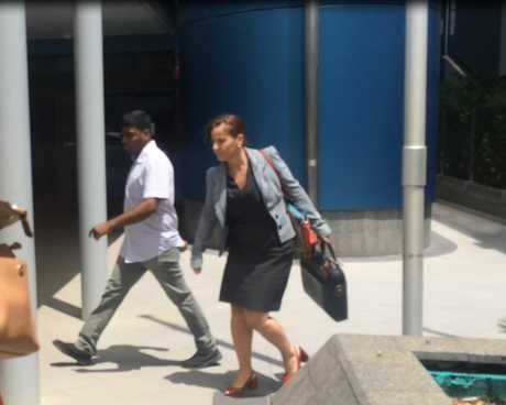 Logandan leaving court this morning with his lawyer Emma Aldersea.