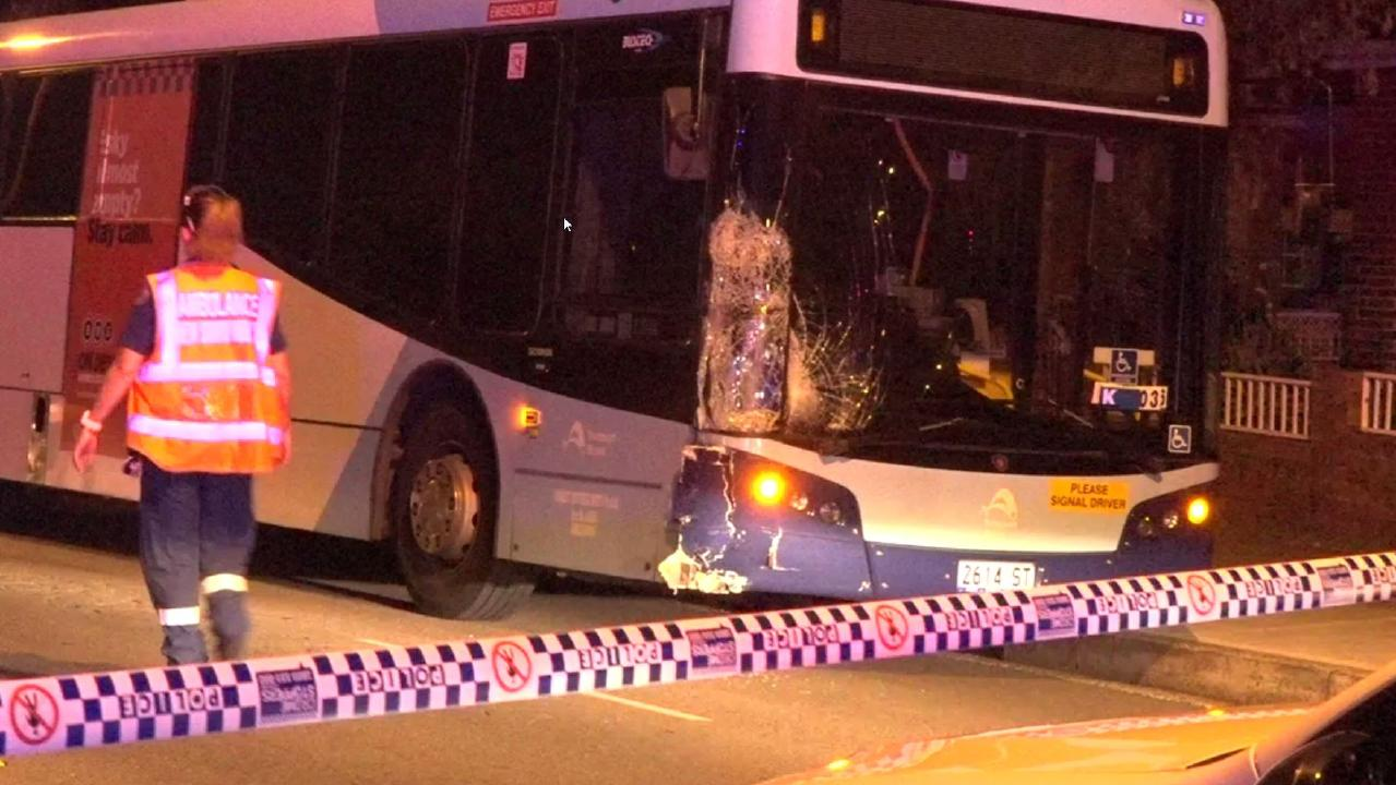 The bus allegedly struck the scooter sending it into the path of an oncoming car. Picture: TNV