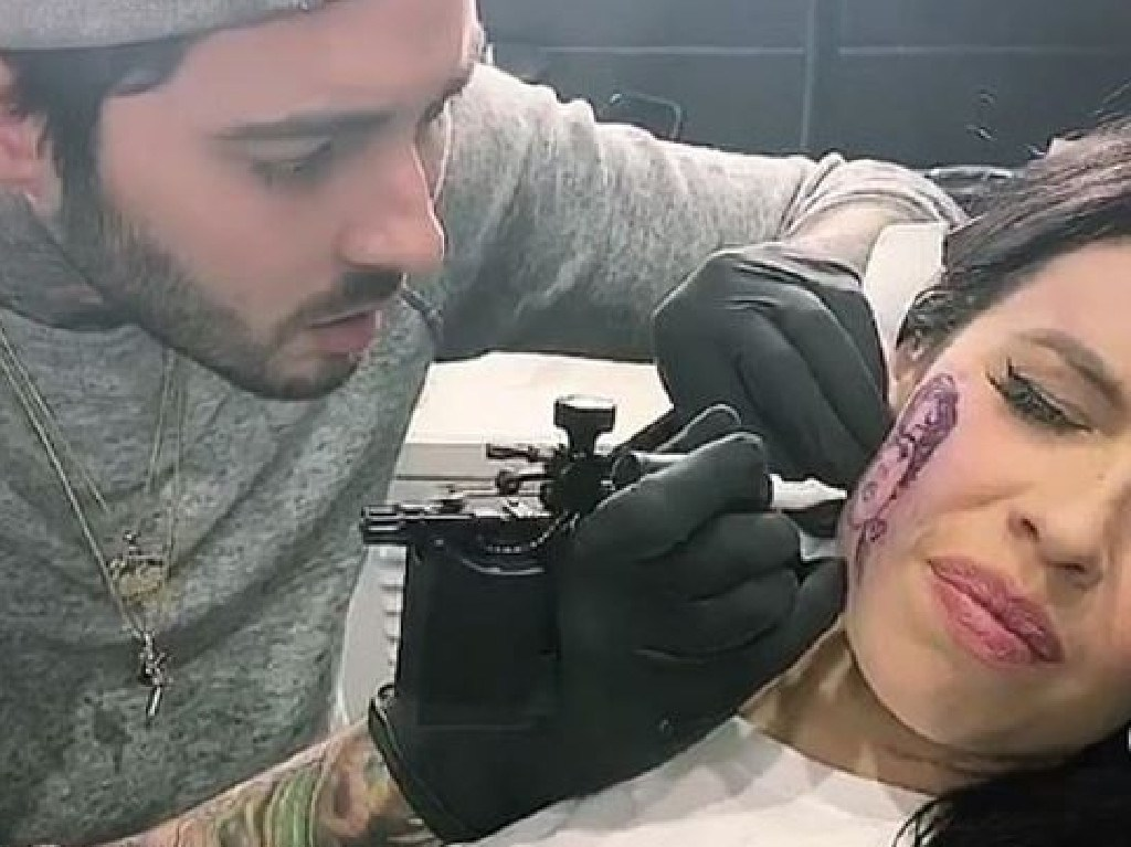 Kelsy Karter feels the pain. Picture: Instagram