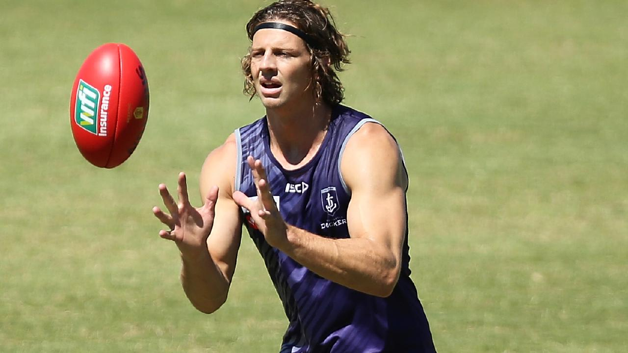 Fremantle midfielder Nat Fyfe.