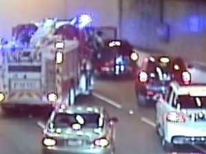 Peak hour pain as car fire closes Burnley Tunnel