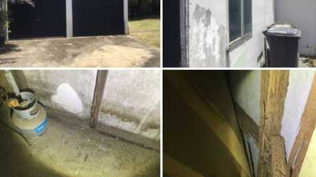 A builder inspected the shed at the Kingscliff home of disabled pensioner Steven Colley and recommended it needed replacing.
