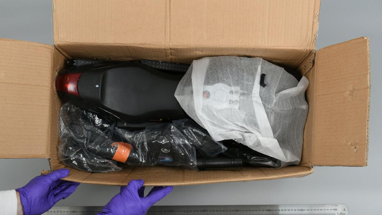 AFP officials found the gun parts inside toys arriving from the US earlier in January. Picture: Aneeka Simonis