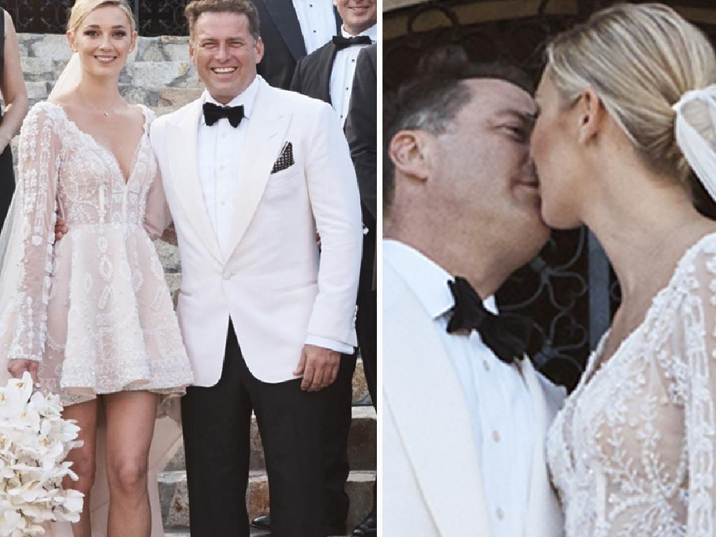 Karl Stefanovic and Jasmine Yarbrough married in December. Picture: Supplied