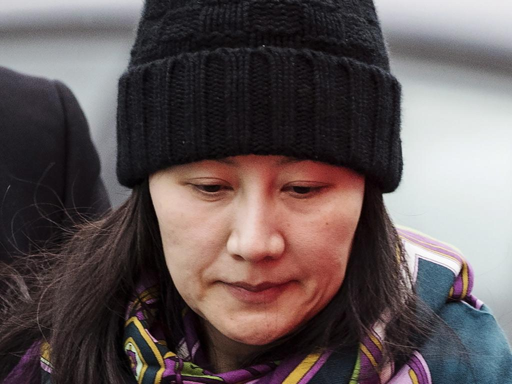 Huawei chief financial officer Meng Wanzhou was arrested last year. Picture: Darryl Dyck/AP
