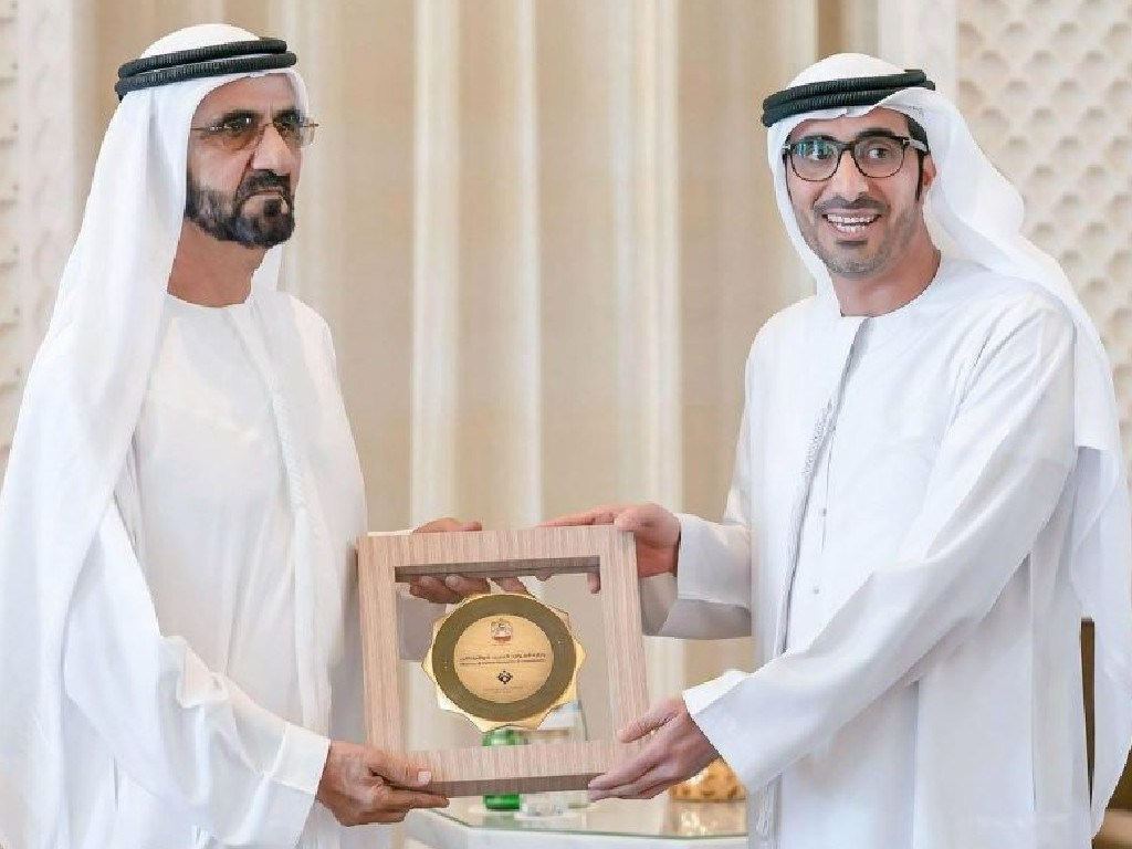 The government departments receiving the awards were all represented by men on the night. Picture: Dubai Media Office