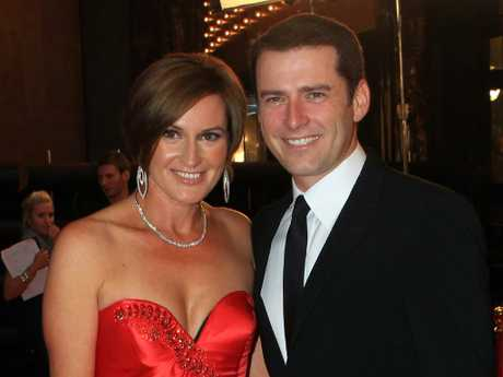 Happier times for Karl Stefanovic and Cassandra Thorburn. Picture: Supplied