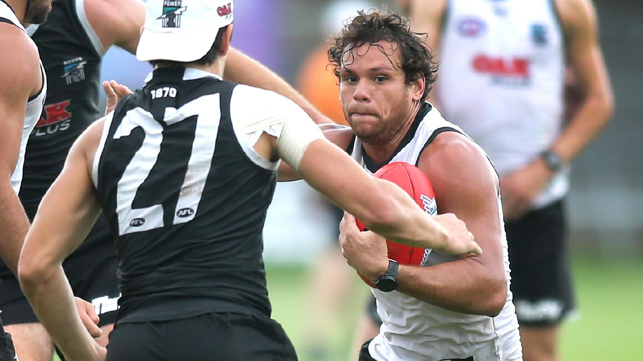 Steven Motlop won Port Adelaide the Showdown over Adelaide.