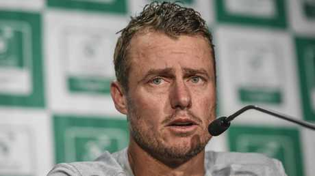 Lleyton Hewitt has copped a pasting from the Tomics. Picture: Roy VanDerVegt/AAP