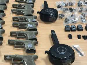 Bikie link probed as guns glued to toys in smuggling scheme