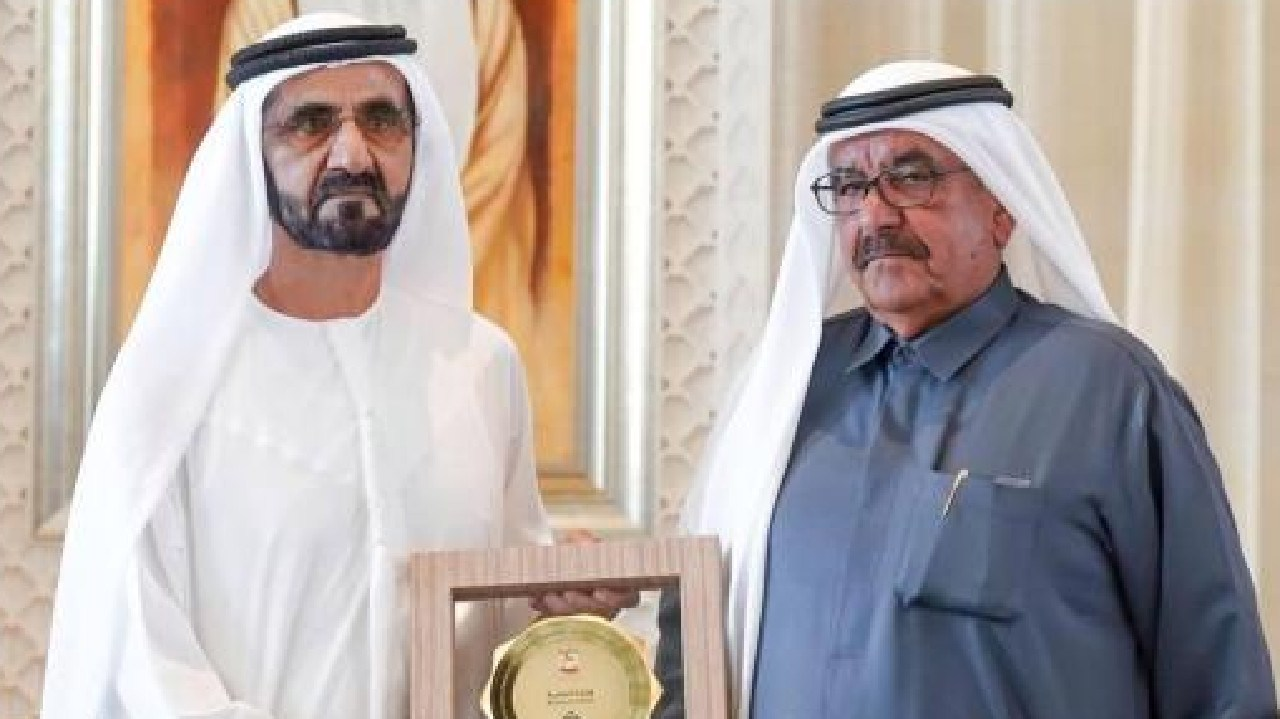Sheik Mohammed bin Rashid al-Maktoum (left) awarded the prestigious awards on Sunday night. Picture: Dubai Media Office