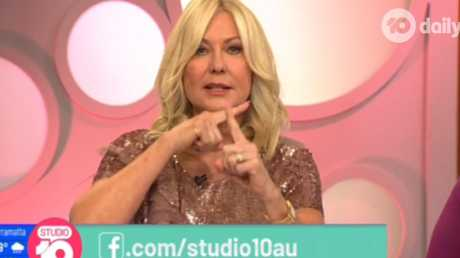 Yumi Stynes told Kerri-Anne Kennerley she was sounding racist for raising the shocking statistics about indigenous Australians. Picture: Studio 10