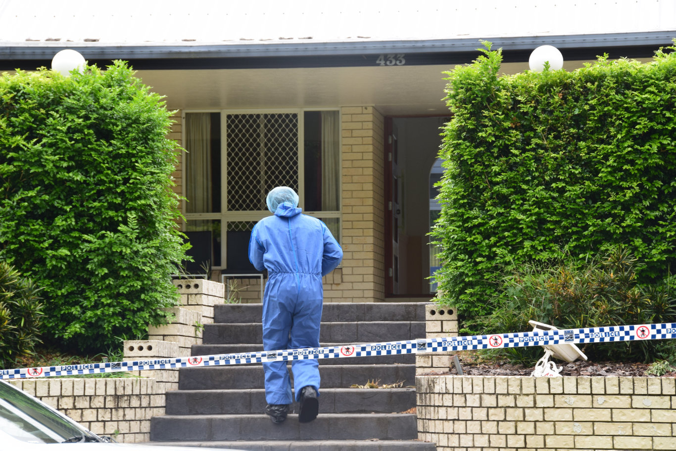 Forensic teams are still going through the Frenchville St home were two people were found dead on Monday night.