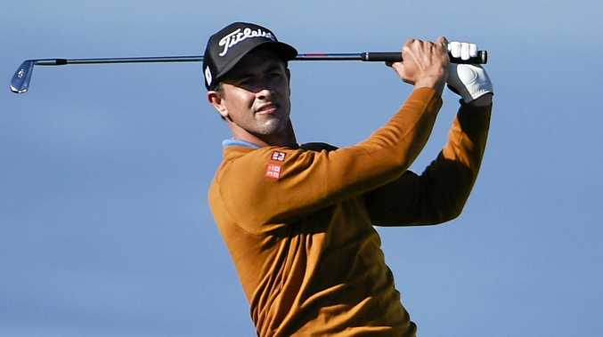 ON COURSE: Adam Scott during the Farmers Insurance Open golf tournament at  Torrey Pines in San Diego.